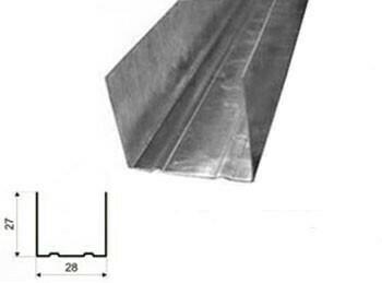 Профиль направляющий 28x27х3м 0,55мм