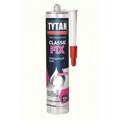 Клей монтажный каучуковый Титан Классик фикс (Tytan Classic fix) 310 мл