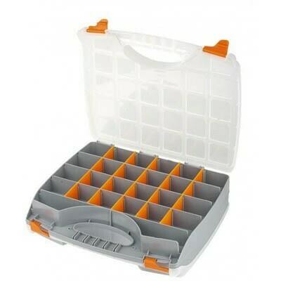 Коробки для хранения STELS, органайзер двухсторонний 325х330х85мм, пластик 90710