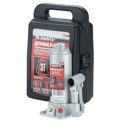 Домкрат гидравлический бутылочный MATRIX 50756 5т.