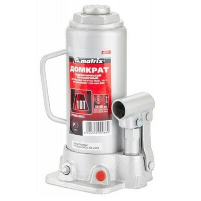 Домкрат гидравлический бутылочный MATRIX 50725 10т.