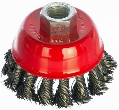 Щетка чашечная для УШМ М-14 кручен. метал. проволока 100мм 74628 MATRIX