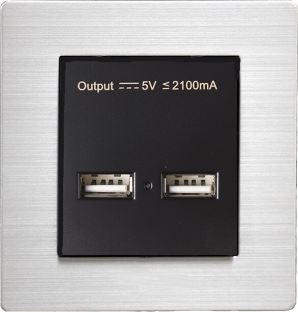 USB w stainless steel frame