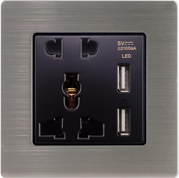 Uni power supply w usb n stainless steel  frame (220V)