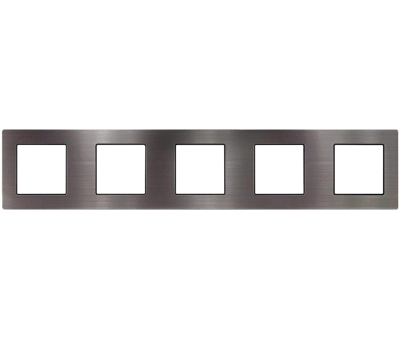 5 Gang stainless steel frame