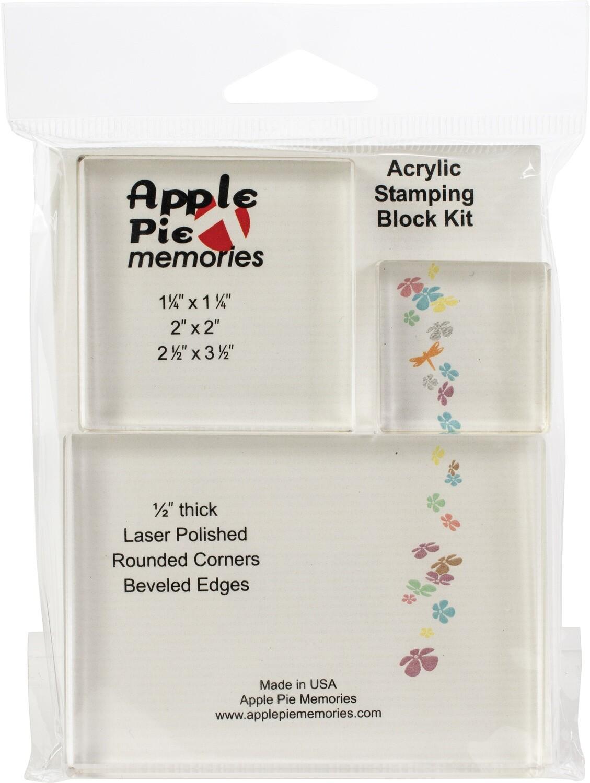 Apple Pie Memories Acrylic stamping blocks