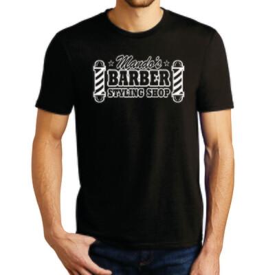 Mando's Barber Shop men's T