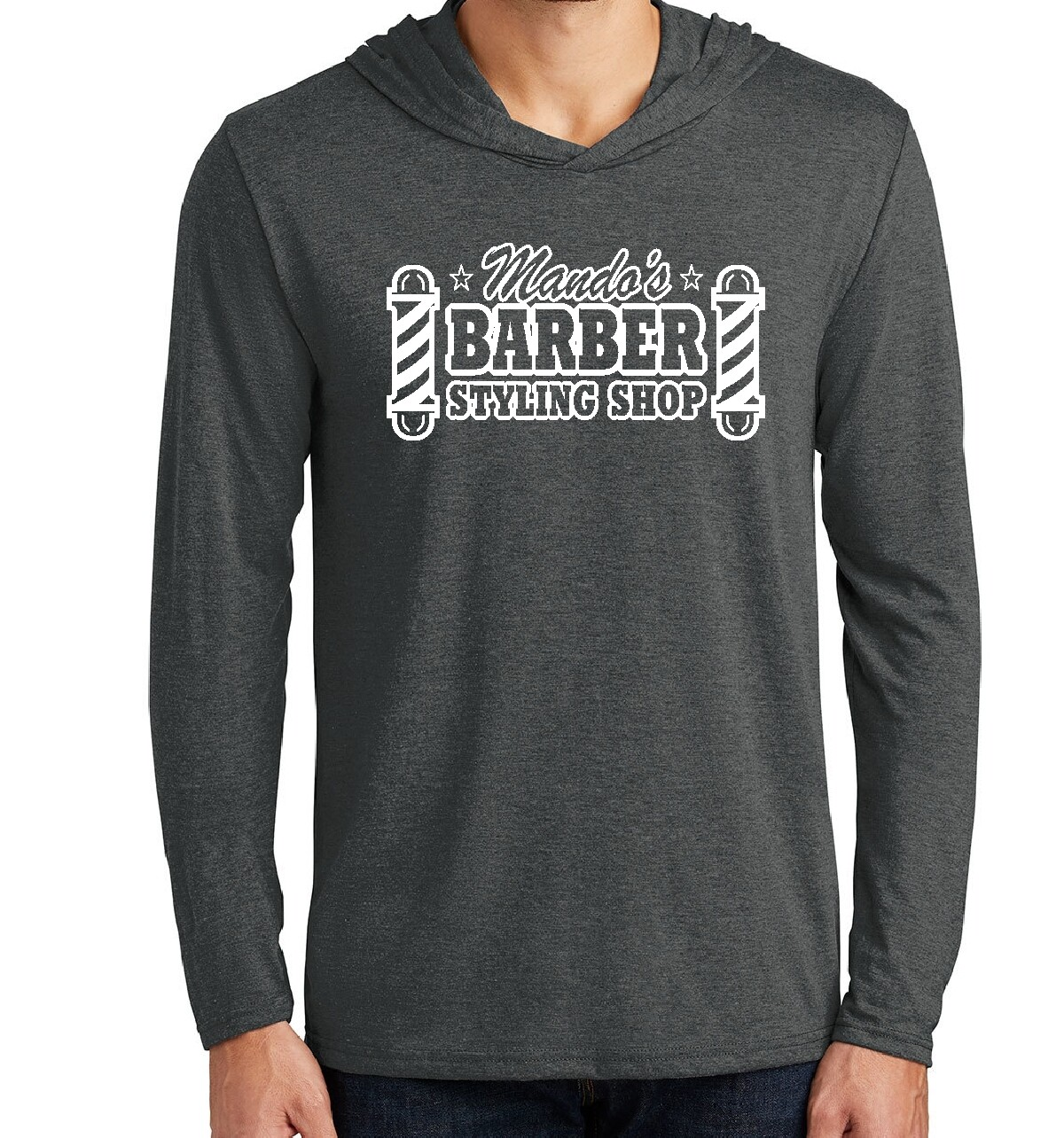 Mando's Barber Shop Soft Long Sleeve Hoodie