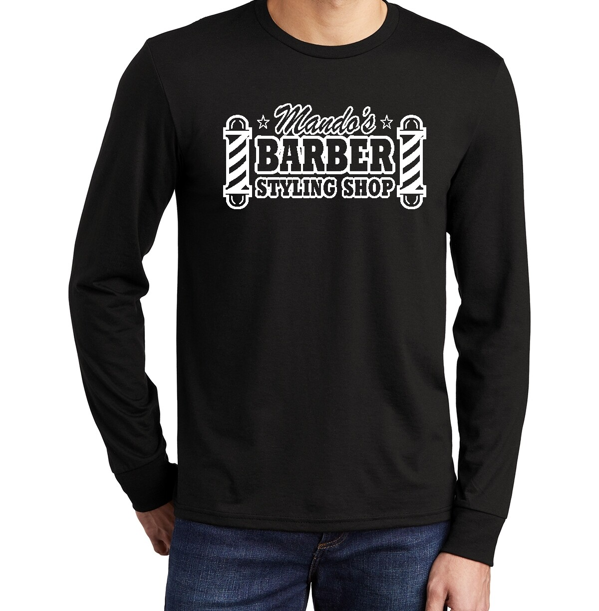 Mando's Barber Shop Long Sleeve