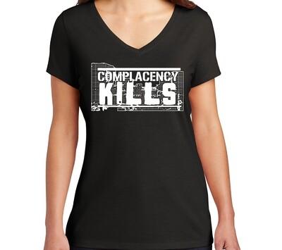 Complacency Kills Soft Ladies V-Neck