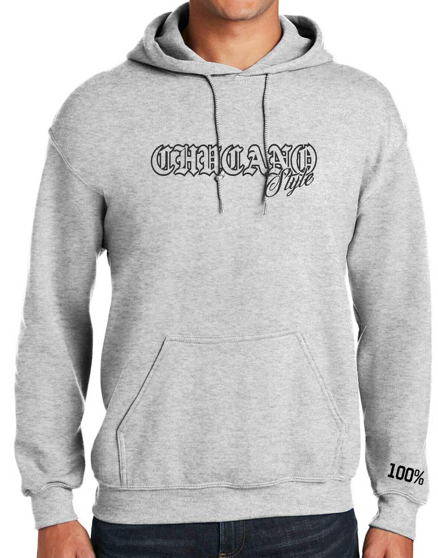 Chucano Style Hoodie Ash Grey
