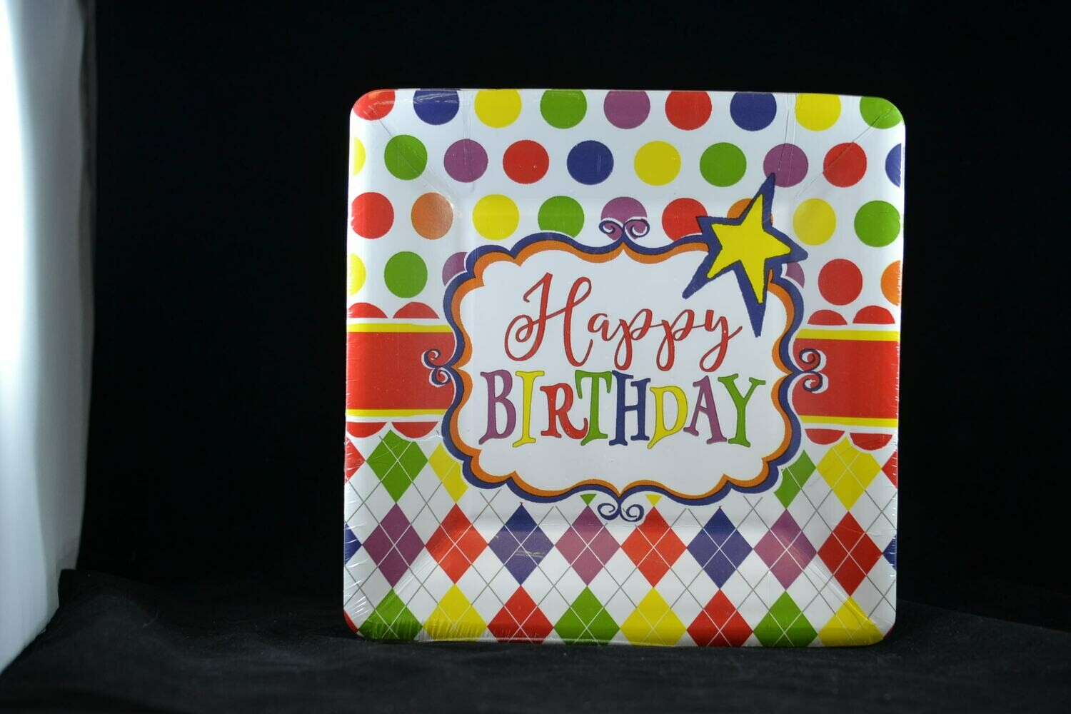 7 Inch Square Birthday Party Fun Plate