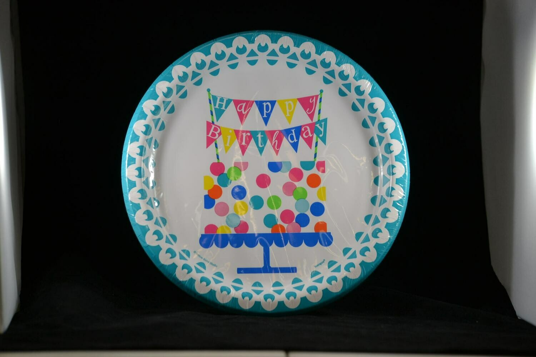 "Confetti Birthday Cake 9"" Plates"