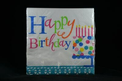 Confetti Birthday Cake Lunch Napkins