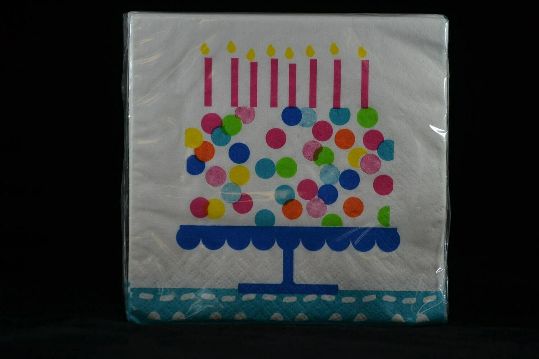 Confetti Cake Birthday Cocktail / Beverage Napkins 16 Cnt