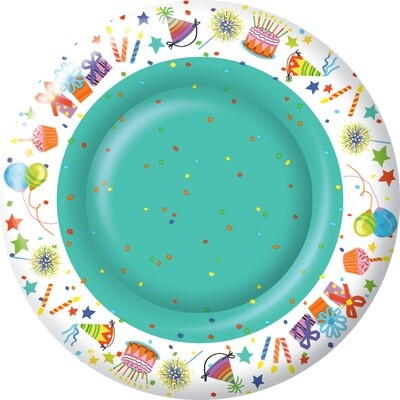 10.5 In Happy Day Plates