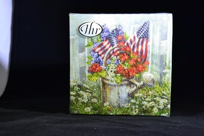 Patriotic Watering Can Cocktail Napkins