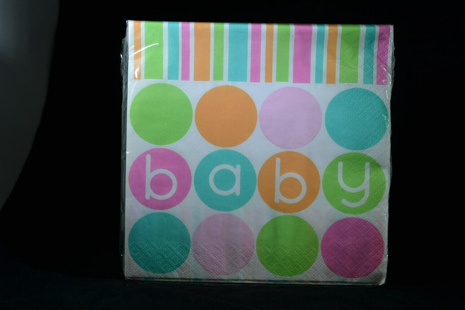 Pastel BABY luncheon Napkins 16 Count Package
