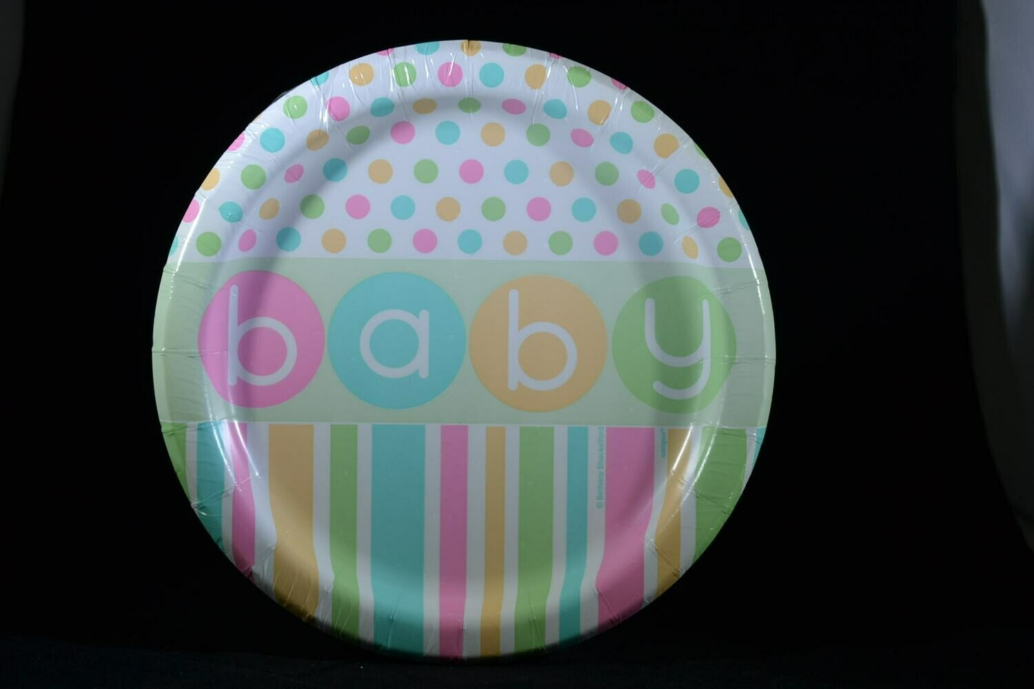 Pastel BABY Plate 7 Inch 8 Count Package