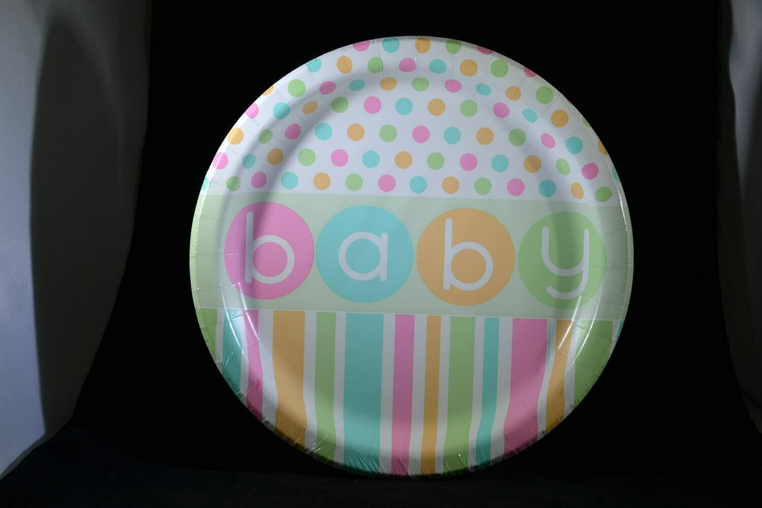Pastel BABY Plates 9 Inch 8 Count Package
