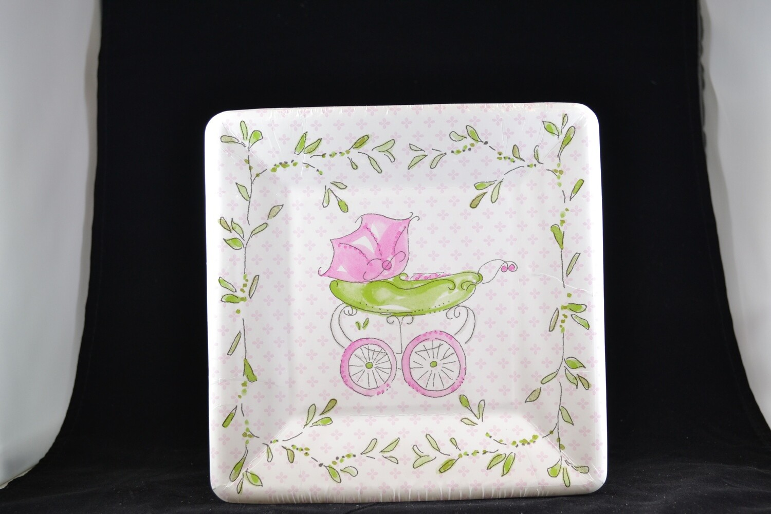 Pink Baby Carriage 8 Plates