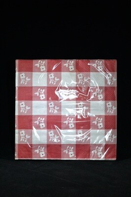 Red Gingham Lunch Napkin