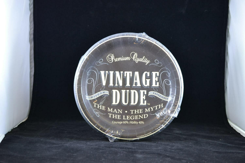 "Vintage Dude 7"" Plate"