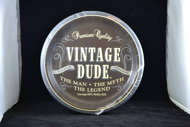 "Vintage Dude 9"" Plate"