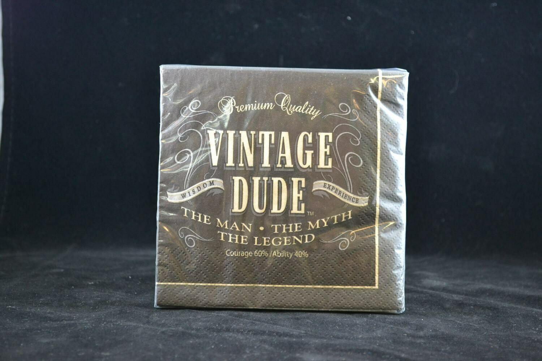 Vintage Dude Beverage / Cocktail  Napkin