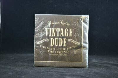 Vintage Dude Beverage / Cocktail  Napkin