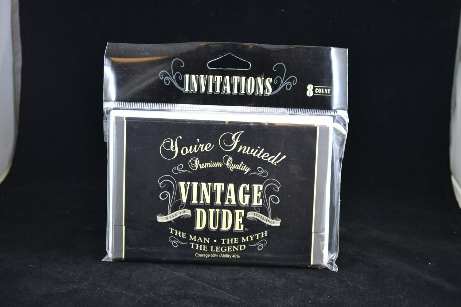 Vintage Dude Invitations 8 Ct