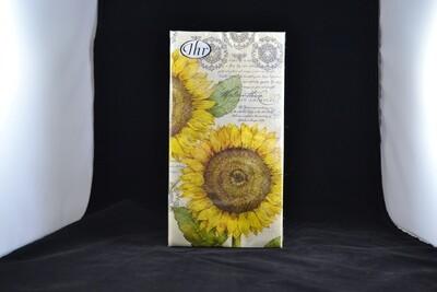 Botanical Sunflower Cream Guest Towel