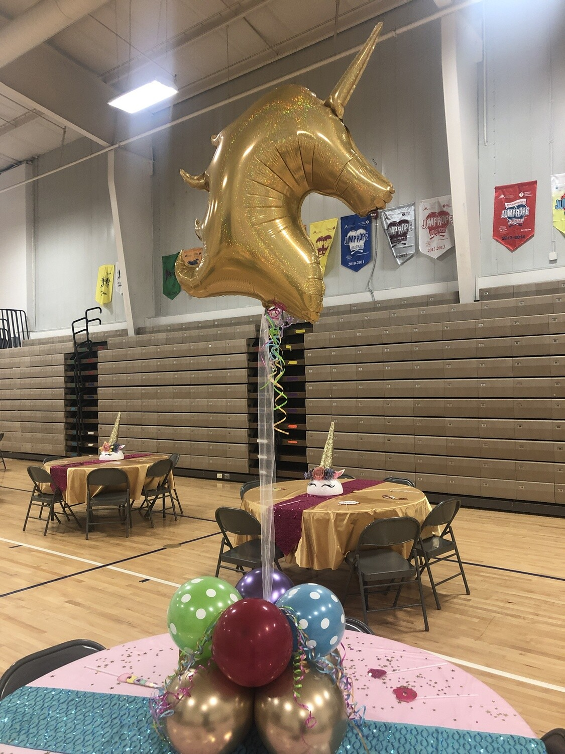 Golden Unicorn Centerpiece