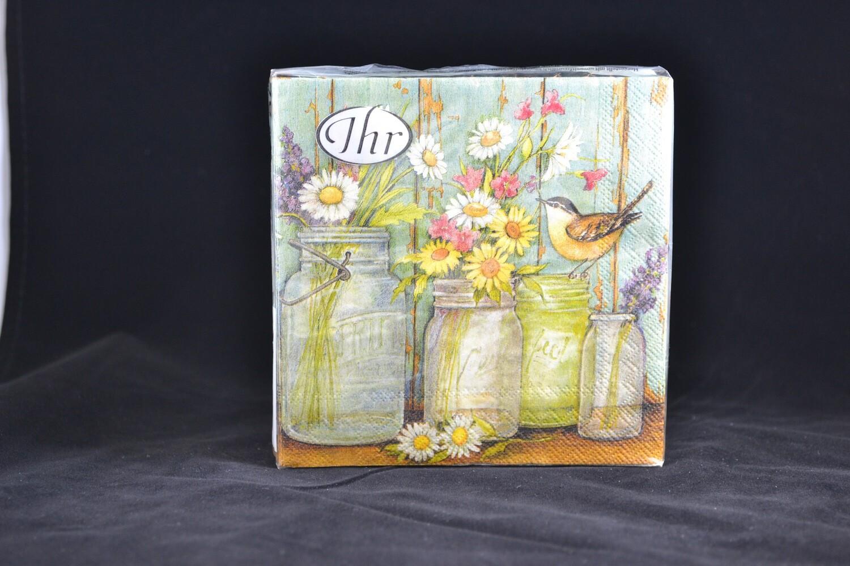 Flower Jars Lunch Napkin