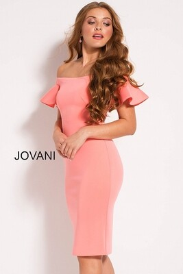Jovani  Cocktail Dress In Coral