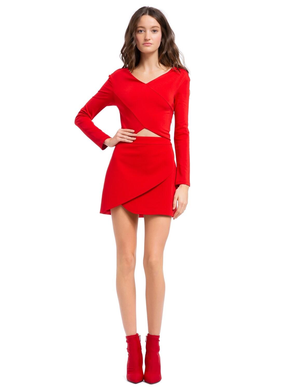 Alice & Olivia Dasia Asymmetrical Mini Skirt