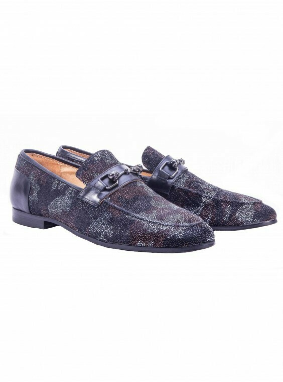 Robert Graham Seaton Camouflage Skull Bit Loafer