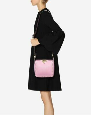 Valentino Mini Grain Calfskin Leather Hobo Rock-stud Bag