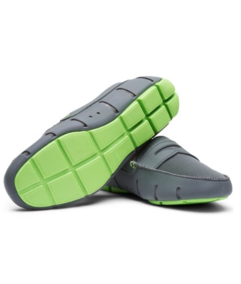 Swims Penny Loafers in Gray and Green