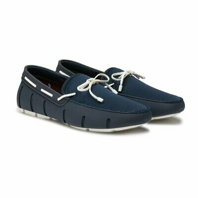 Swims Braided Lace Loafer Blue/White