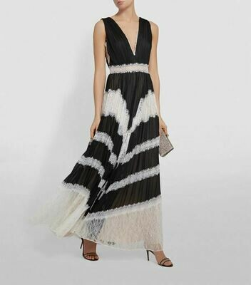 Alice & Olivia Tess Sunburst Pleat Maxi Dress