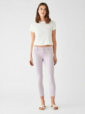 DL1961 Florence Crop Mid Rise Skinny in Orchid