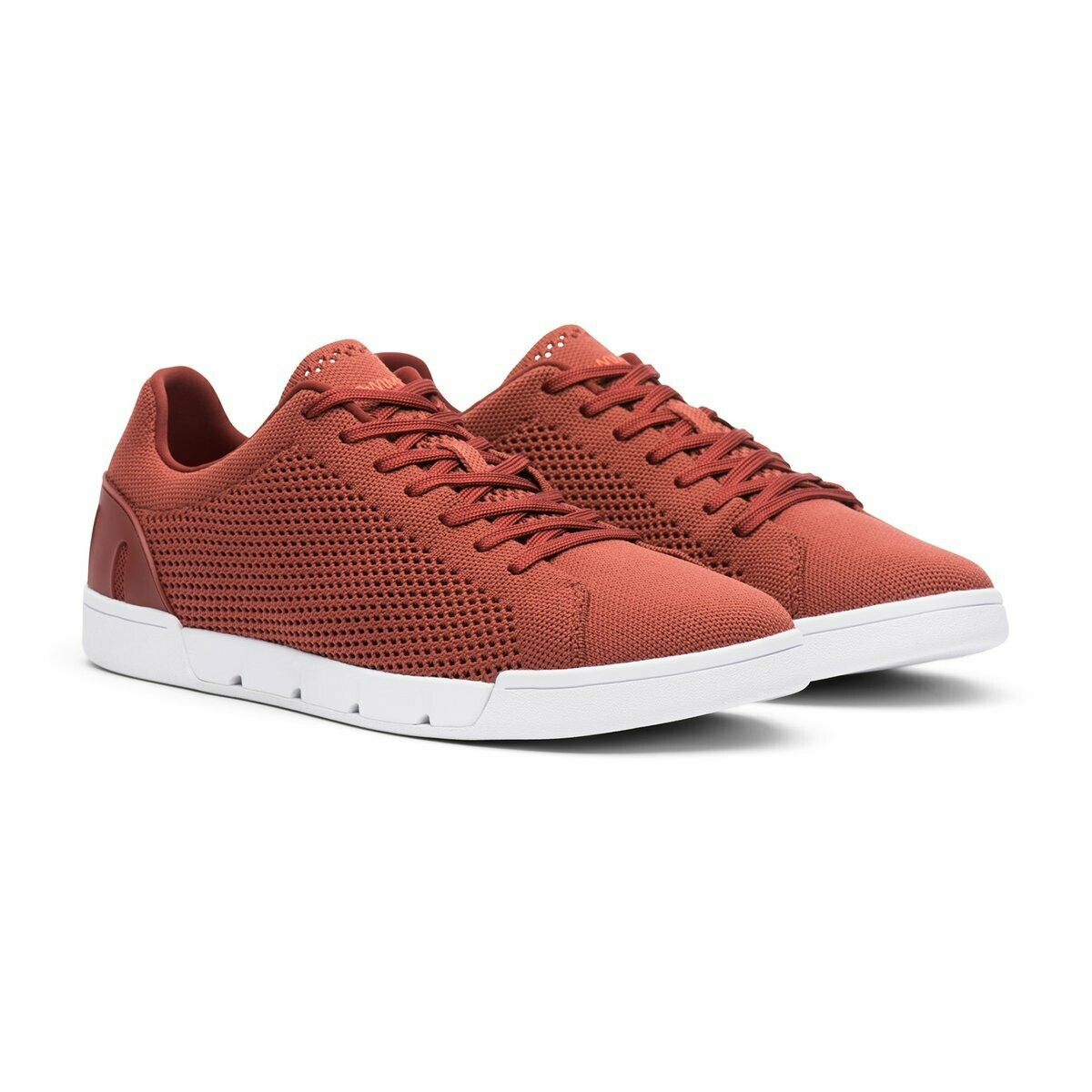 Swims Breeze Tennis Knit in Cabernet and White