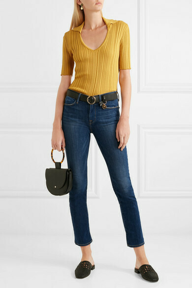 Frame Le High Straight-Leg Jeans in York