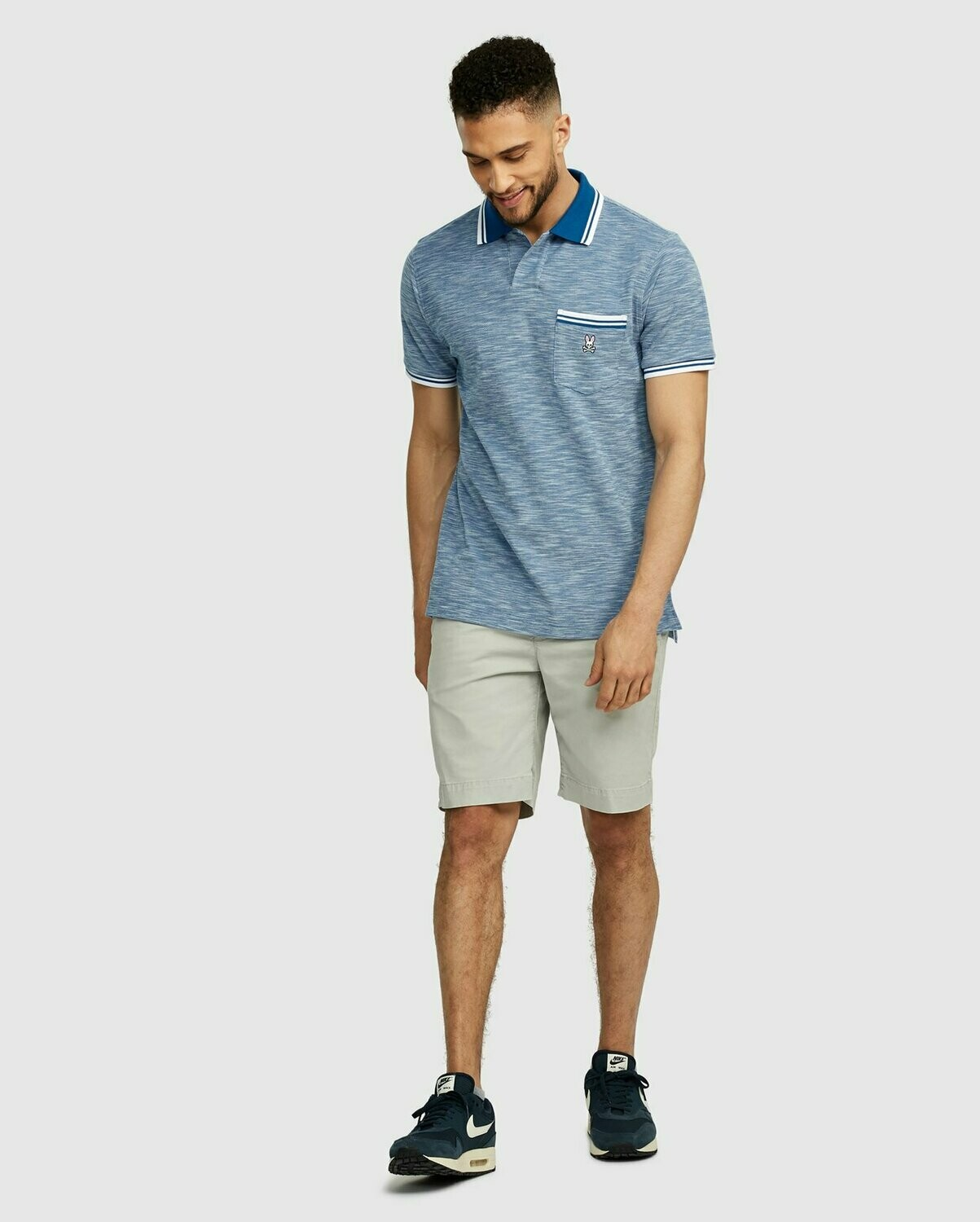 Psycho Bunny Mens Thornton Polo - Seaport