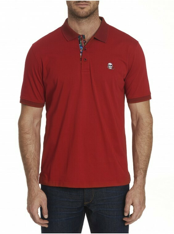 Robert Graham Easton Polo In Red