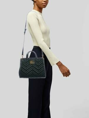 Gucci Metalesse Medium GG Marmont Bag With Strap
