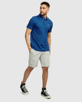 Psycho Bunny Mens Classic Polo - seaport