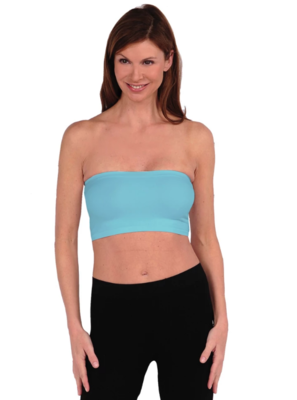 Tees By Tina Bandeau Bra in Turquoise