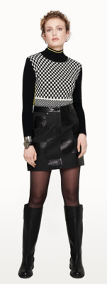 Escada Checkerboard Skirt in Black